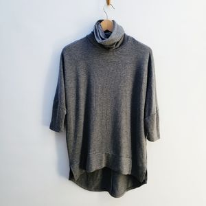 Madison & Berkeley Dolman Gray High Turtleneck